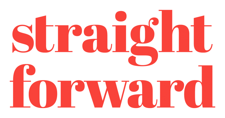 Straight Forward brand design agency.